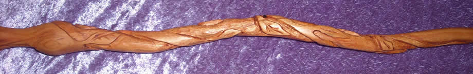 Viney Like Hermione Wand in Real Cherry Wood