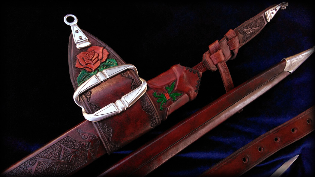 Rose Leather Scabbard