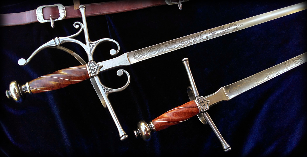 Rapier and Dagger Set Bespoke Fable Blades